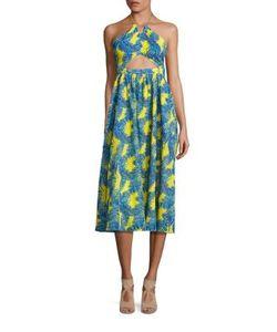 Tanya Taylor | Julianna Cotton Cutout Midi Dress