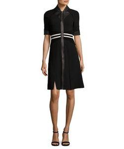 Yigal Azrouel   Zip-Front Striped Dress