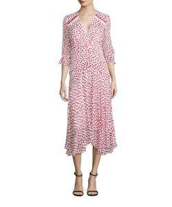 Saloni | Edith B Polka Dot Silk Dress