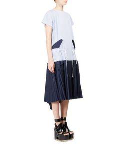 Sacai | Striped Shirtdress