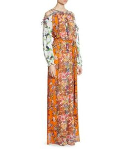 Tory Burch   Shasta Cold-Shoulder Maxi Dress