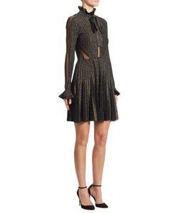 Elie Saab   Tulle-Inset Ribbed Dress