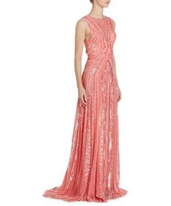Zuhair Murad   Open Back Sequin-Embroidered Gown