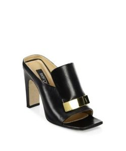 Sergio Rossi | Sr1 Leather Sabot Mules