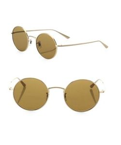 Oliver Peoples | The Row For After Midnight 49mm Round Sunglasses