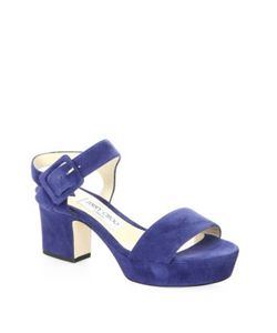 Jimmy Choo | Harriet 65 Suede Ankle-Strap Sandals