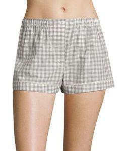 Araks | Tia Gingham Silk Boxer Shorts