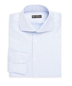 Corneliani   Micro-Print Regular-Fit Dress Shirt