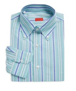 Isaia | Regular-Fit Striped Dress Shirt