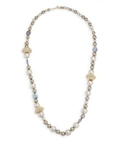 Alexis Bittar | Elements Crystal Station Faux-Pearl Necklace/26