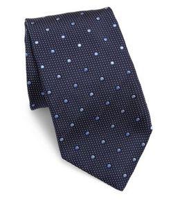 Corneliani | Dotted Silk Tie
