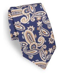 Isaia | Paisley-Print Silk Tie