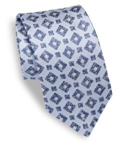 Isaia | Geometrical Patterned Silk Tie
