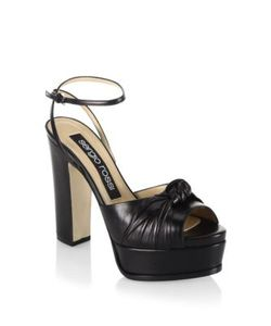 Sergio Rossi | Kaia Knot Leather Platform Sandals
