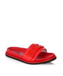 Moschino | Logo Slide Leather Sandals