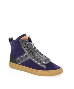 Bally | Helvio Studded Leather High Top Sneakers
