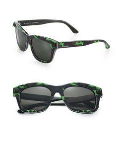 Valentino | 53mm V656scm Rockstud Plastic Camouflage Wayfarer Sunglasses