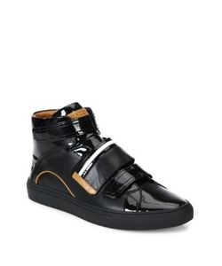 Bally | Grip-Tape Patent Leather High-Top Sneakers