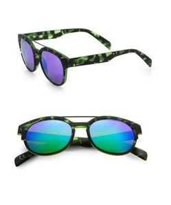 Italia Independent | 50mm Camouflage Round Sunglasses