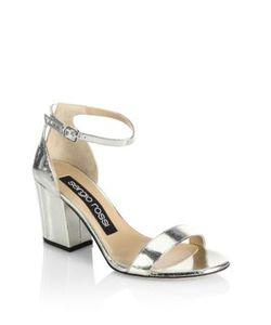 Sergio Rossi | Leah Leather Block Heel Sandals