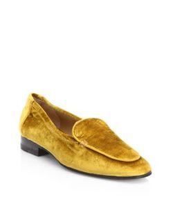 The Row | Adam Velvet Loafers