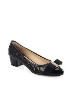 Salvatore Ferragamo | Vara Quilted Leather Block Heel Pumps