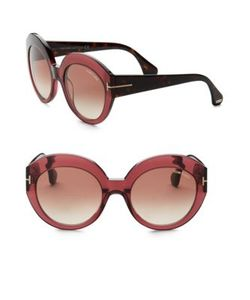 Tom Ford Eyewear | Rachel 54mm Round Sunglasses