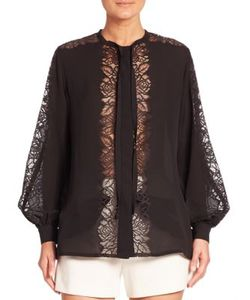 Elie Saab | Panelled Lace Blouse