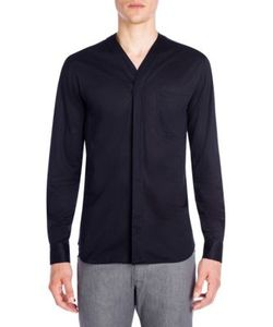 Emporio Armani | Collarless Solid Sport Shirt