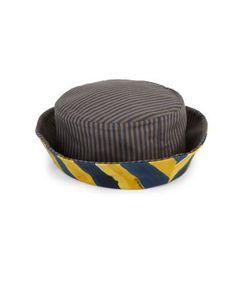 Fendi   Reversible Striped Cotton Canvas Bucket Hat