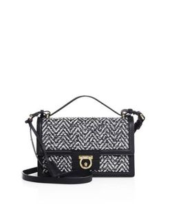 Salvatore Ferragamo | Woven Chevron Leather Shoulder Bag