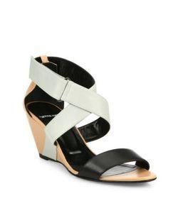 Pierre Hardy | Kl10 Leather Crisscross Wedge Sandals
