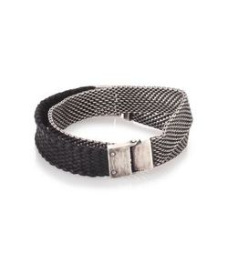 TITLE OF WORK | Sterling Braided Leather Wrap Bracelet
