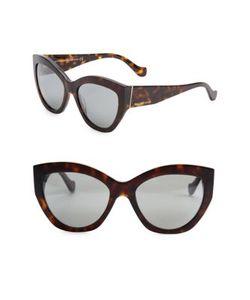 Balenciaga | 56mm Mirrored Cat Eye Sunglasses