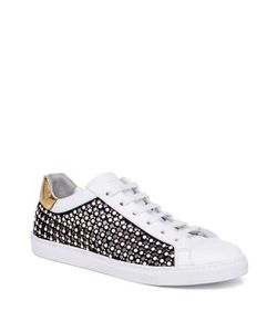 Rene Caovilla | Pearl Studded Suede Leather Sneakers