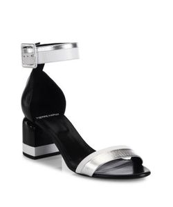 Pierre Hardy | Memphis Leather Block Heel Sandals