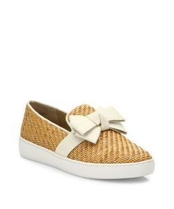 Michael Kors Collection | Val Woven Bow Skate Sneakers