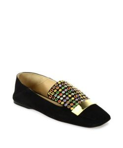 Sergio Rossi | Sr1 Jeweled Suede Slippers