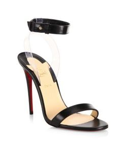 CHRISTIAN LOUBOUTIN | Jonatina 100 Leather Pvc Ankle-Strap Sandals