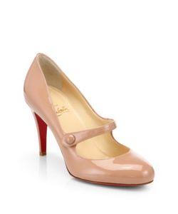 CHRISTIAN LOUBOUTIN | Charlene 85 Patent Leather Mary Jane Pumps