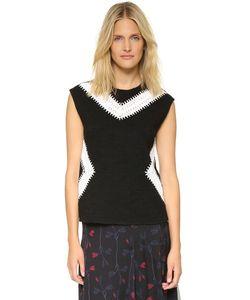 Thakoon | Sleeveless Crochet Inset Top