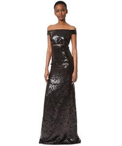 Kaufmanfranco   Sequin Off The Shoulder Gown