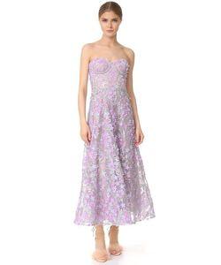 Marchesa Notte | Вечернее Платье До Колен Без Бретелек С Вышивкой