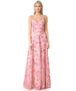 Marchesa Notte | Вечернее Платье С Вышитым Цветочным Рисунком