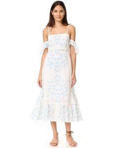 Athena Procopiou | Платье С Открытыми Плечами Morning Mist