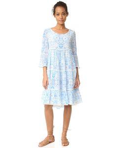 Athena Procopiou   Платье С Оборками Голубой Misummer