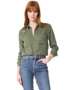 The Kooples | Рубашка На Пуговицах С Цветочной Вышивкой