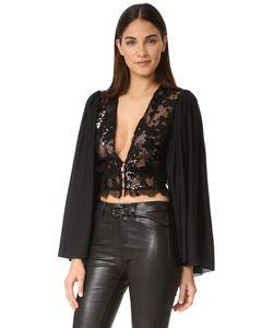 Rodarte   Блуза С Блестками И Глубоким V-Образным Вырезом