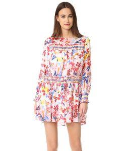 Tanya Taylor | Платье Hailey С Ярким Цветочным Рисунком