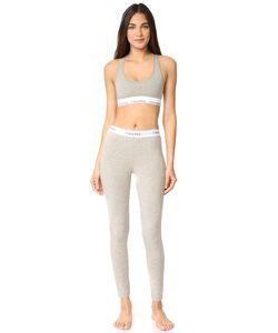 Calvin Klein Underwear | Современный Хлопковый Комплект Из Бюстгальтера Без Косточек И Леггинсов